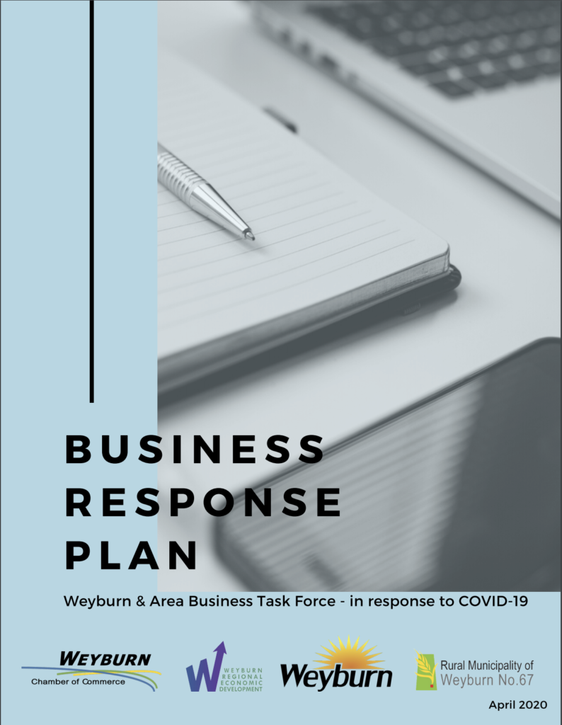 Business Response Plan  in response to Covid 19 - Weyburn & Area Business Task Force